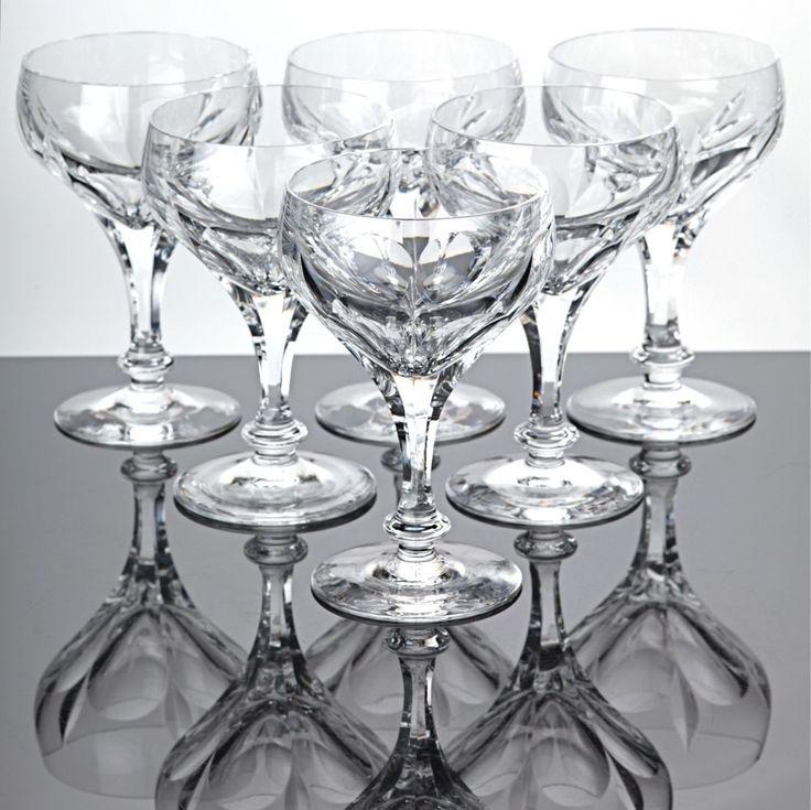 6 Sektschalen Sektgläser Bleikristall Gläser geschliffen Vintage Schliff