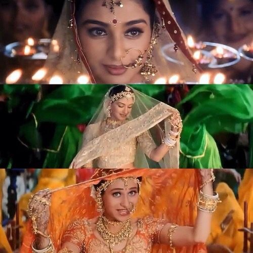 Karisma Kapoor, Tabu and Sonali Bendre in Hum Saath Saath Hain