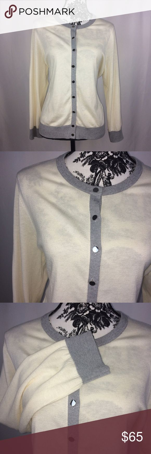 """📍Banana Republic • Silk Blend Cardigan Gently Used • Mirror buttons      ‼️REDUCED! Before you think of placing an offer on a reduced item, be sure you consider my current """"Shop for A Cause"""" sale, my time, materials to wrap & ship your package. Bundles Welcome. Banana Republic Sweaters Cardigans"""