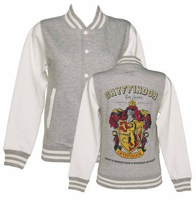 Truffleshuffle Women's Harry Potter Gryffindor Team Quidditch Varsity Jacket http://www.amazon.com/Ladies-Potter-Gryffindor-Quidditch-Varsity/dp/B00CPWVM76/ref=sr_1_24?ie=UTF8&qid=1409897131&sr=8-24&keywords=harry+potter+merchandise I would make the Hogwarts house my own house, Ravenclaw