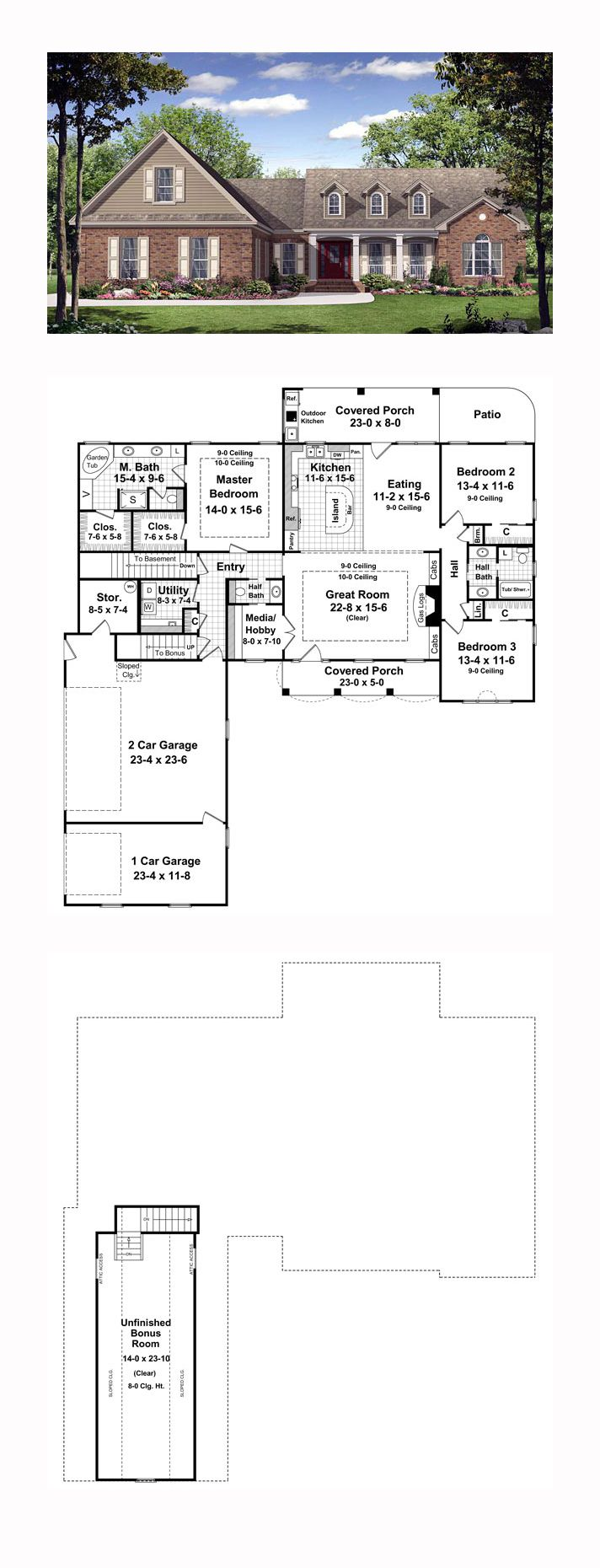 68 best French Country House Plans images – French Country House Plans Open Floor Plan