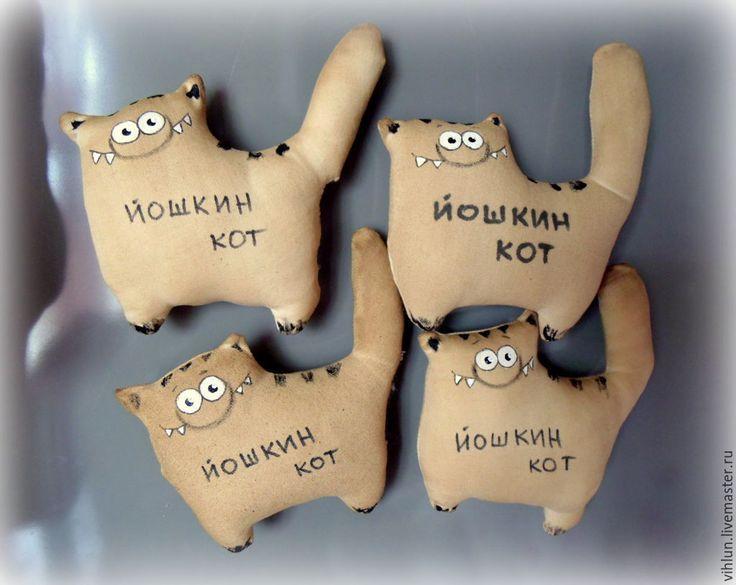 """Купить Ароматные магниты """"Йошкины коты"""" - коричневый, магнит на холодильник, магнит, кот, котики, котейка"""