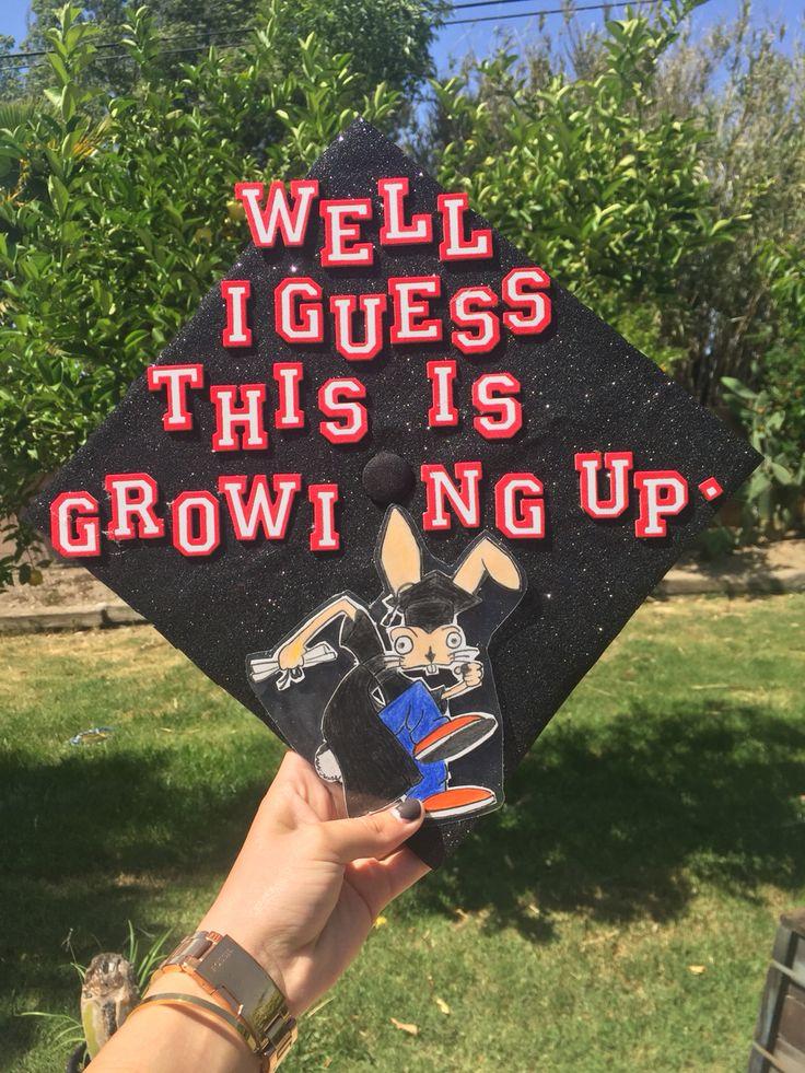 Blink 182 inspired graduation cap. #blink182 #graduation #graduationcap…