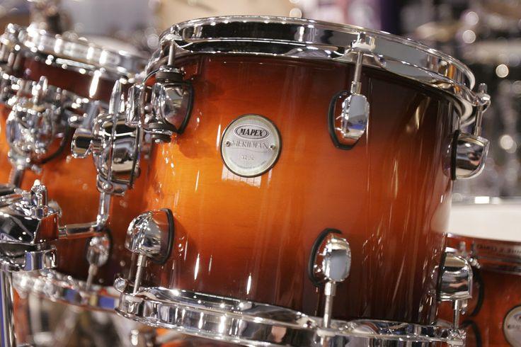Mapex Merdian Maple Drums in Volcanic Burst . . .
