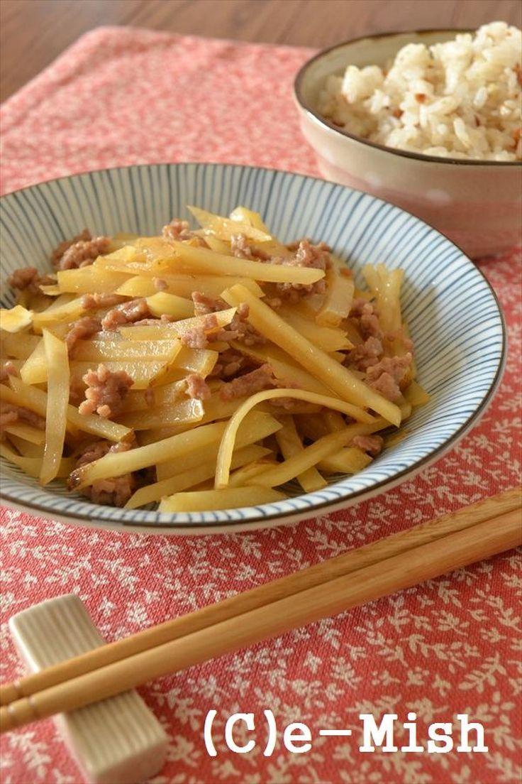 【ココナッツオイル】じゃが芋とひき肉の金平 by 柴田真希 | レシピサイト「Nadia | ナディア」プロの料理を無料で検索