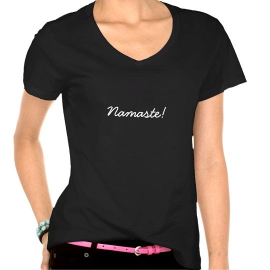 Namaste Greeting T-Shirt http://www.zazzle.com/namaste_greeting_t_shirt-235147587817829575?rf=238290304201005220&tc=pifa #namaste #fashion #design