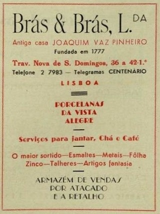 Brás & Brás, Lisboa.