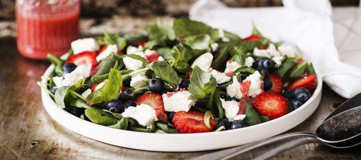 Mansikka-fetasalaatti   Alkuruoat   Reseptit – K-ruoka