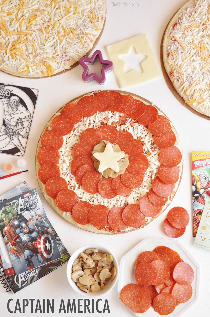 Captain American Party - Birthday pizza party for super heroes!