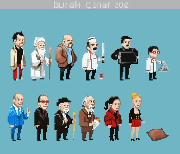 Leyla ile Mecnun 8-bit by Burak Çınar, via Behance