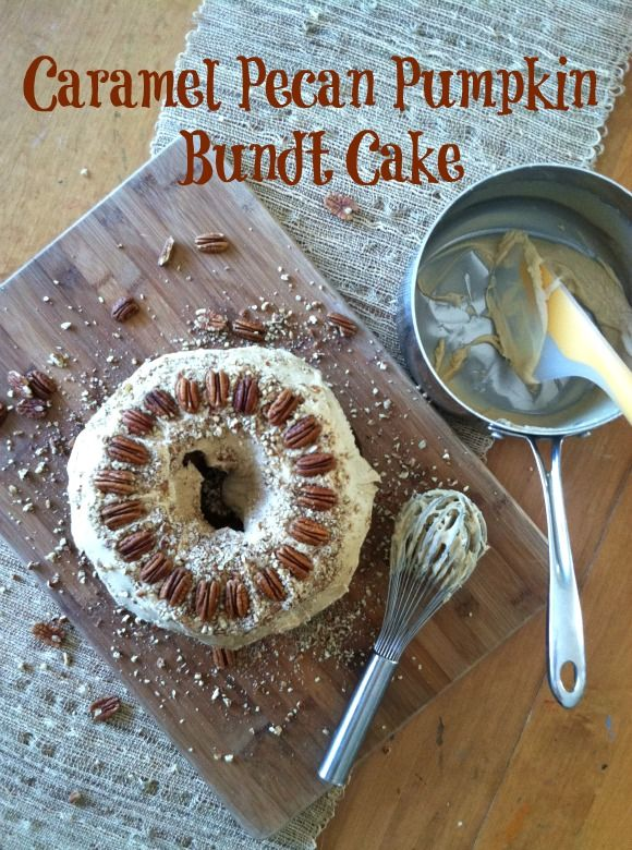 Caramel pecan, Pumpkin bundt cake and Bundt cakes on Pinterest