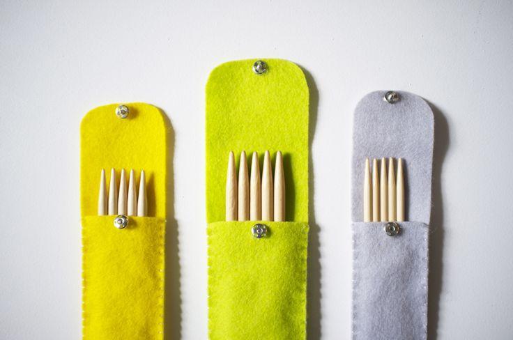 Make It Yourself: Felt Knitting Needle Case