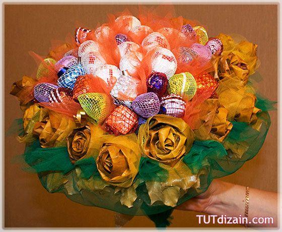 Осенний подарочный букет с конфетами » Планета рукоделия