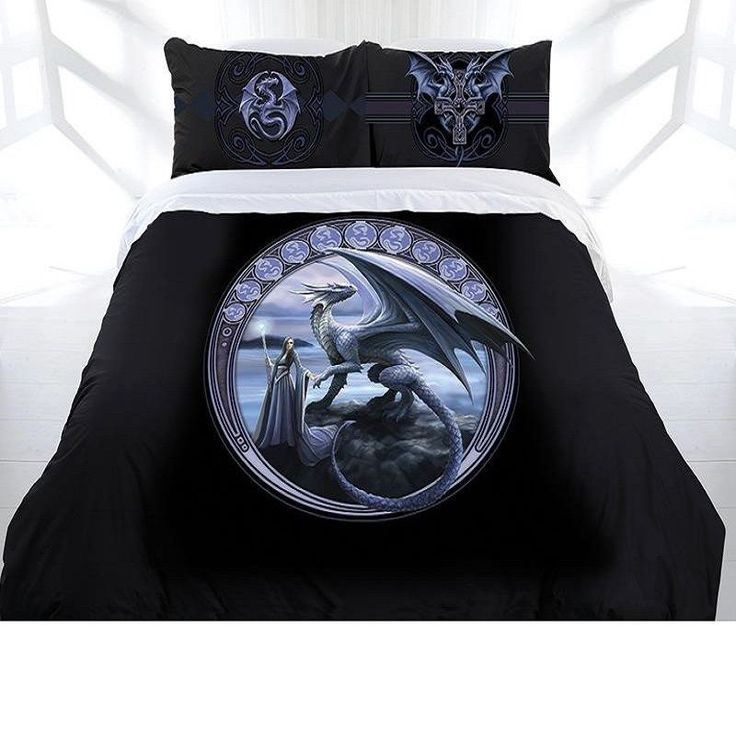 New Horizon Gothic Quilt Cover Double Queen King Bedding Anne Stokes Fantasy Ebay