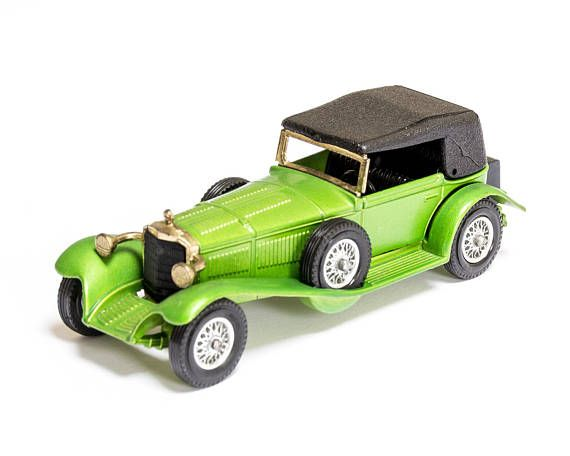 #vintage #etsy Green Mercedes Benz SS Matchbox Models of Yesteryear by Lesney Vintage Collectible Die-cast Toy Car Model by VintUK