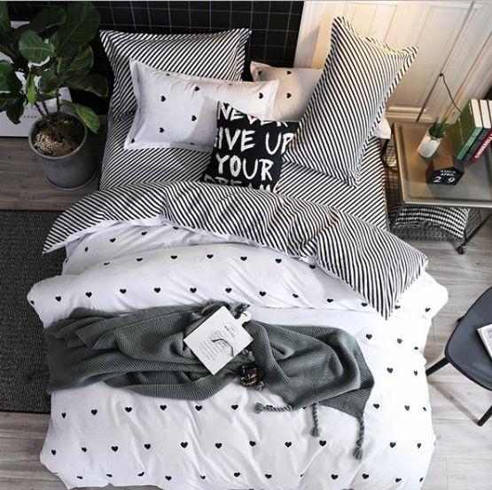 BEST.WENSD Jogo de cama amarelo solteiro Pessoa dupla em forma de coração colcha capa de edredom lençol edredom roupa de cama  – bed covers