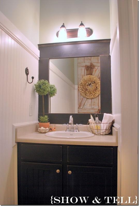 Ideas For Half Bath Redo Cabinet Color
