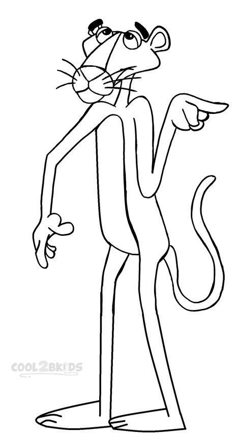 Printable Pink Panther Coloring Pages For Kids ...