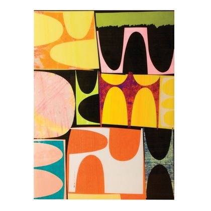 Artwork by renowned artist rex ray exclusively at jonathan adler paper collage and paint on birch plywood panels coated with a high gloss lacquered resin