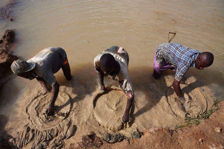 Serra Leoa - Garimpo de diamantes