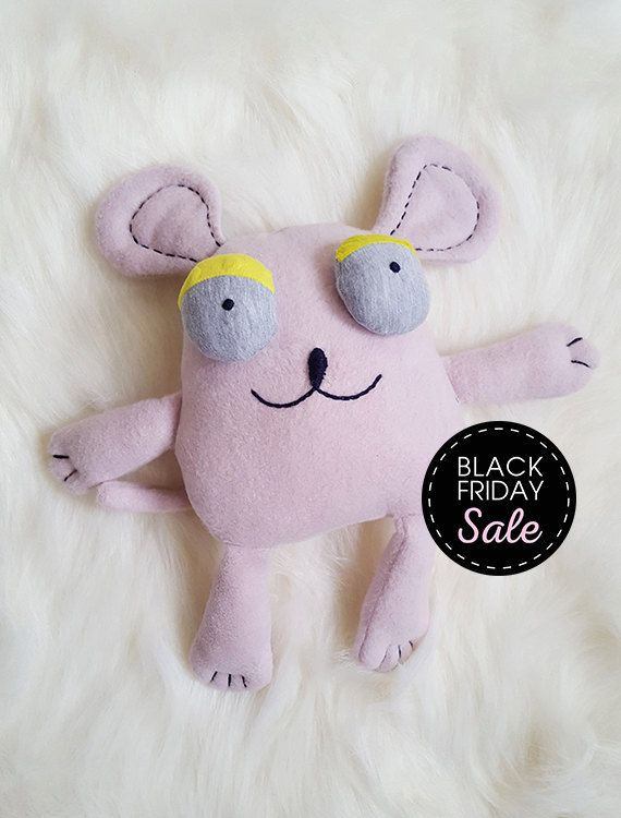 Black Friday Sale 20% off Mouse - Stuffed animals & plushies, christmas and birthday gift, by Kakuma, toys Kids by KAKUMAstore on Etsy
