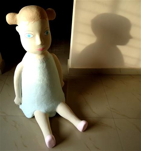 Barbara Ash, Big seated doll, 2012