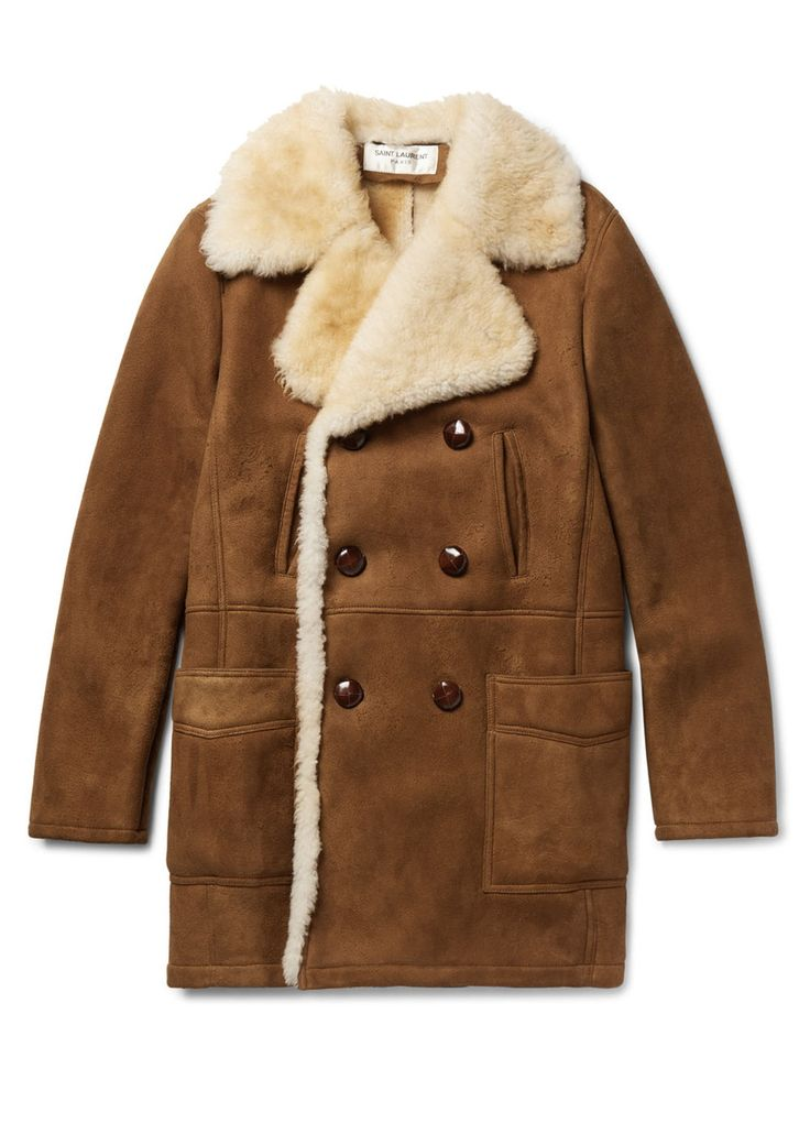The shearling coat brings '70s flair to modern day