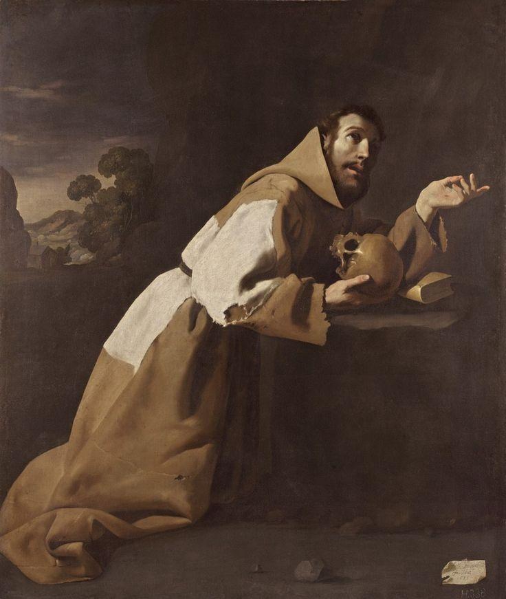 Francisco de Zurbarán. San Francisco en meditación,1639
