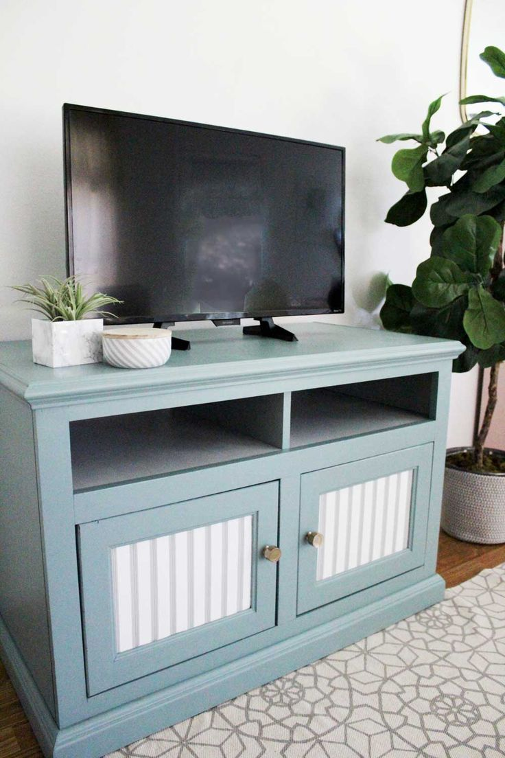 Painted TV Stand Makeover