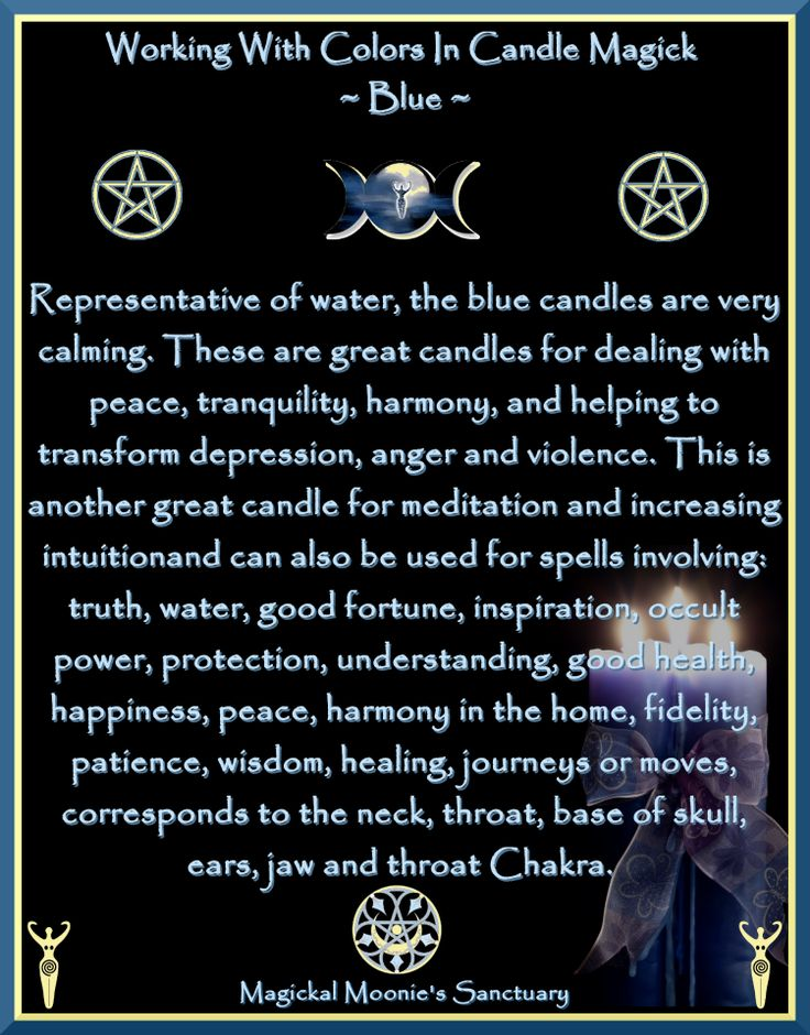 Magickal Moonie's Sanctuary  Blue Candle Blessed Be:    Magickal Moonie  Yvonne )O(    reference: www.witchesofthec...  Crescent Pentacle: espie-whitburn-de...