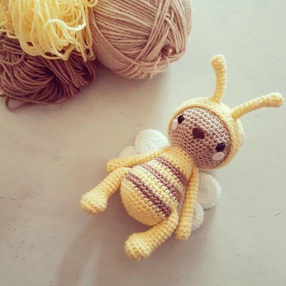 Amigurumi paid crochet pattern bumble bee