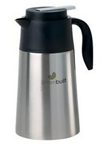 1.6 L Vacuum Stainless Steel Carafe Serve your next beverage in style! Constructed ol FDA compliant materials, with vacuum insulated double walled 18/8 stainless steel to keep your beverage hot for hours. Features a twist action lid with wide opening for easy brewing or cleaning and a push button lever to dispense the beverage of your choice. Complies with FDA.