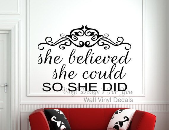 Best Inspirational Quotes Images On Pinterest Vinyl Decals - Vinyl decals for walls etsy