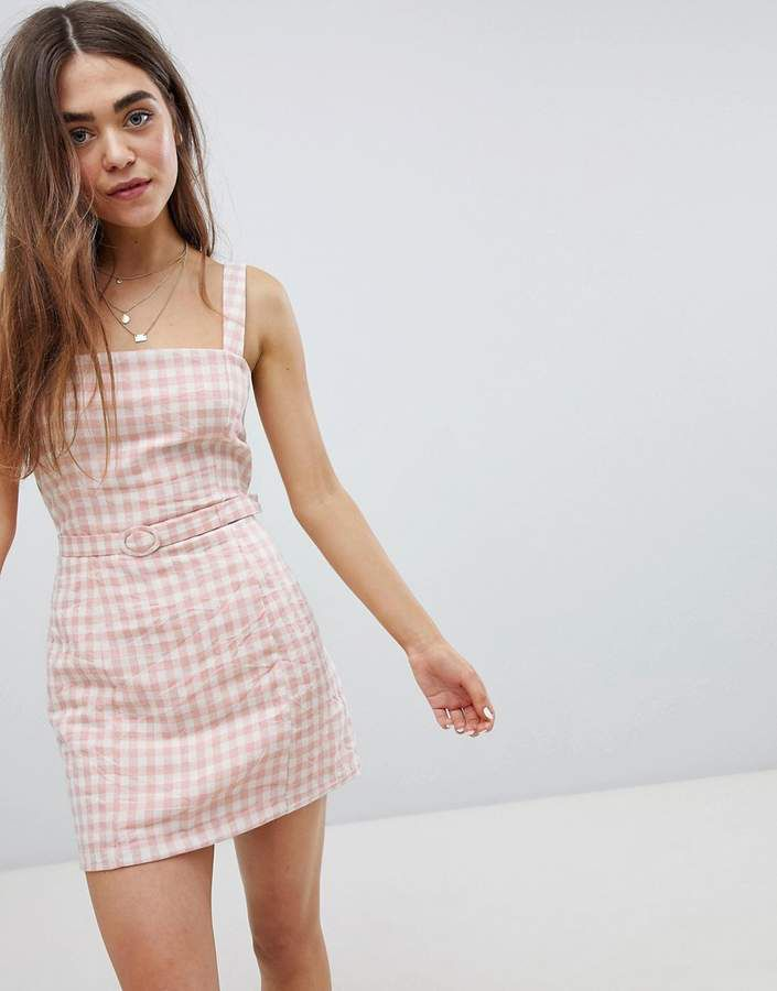 85e8320edb1a Nobody's Child Gingham Cami Dress With Waist Belt | fashion ♡ in ...