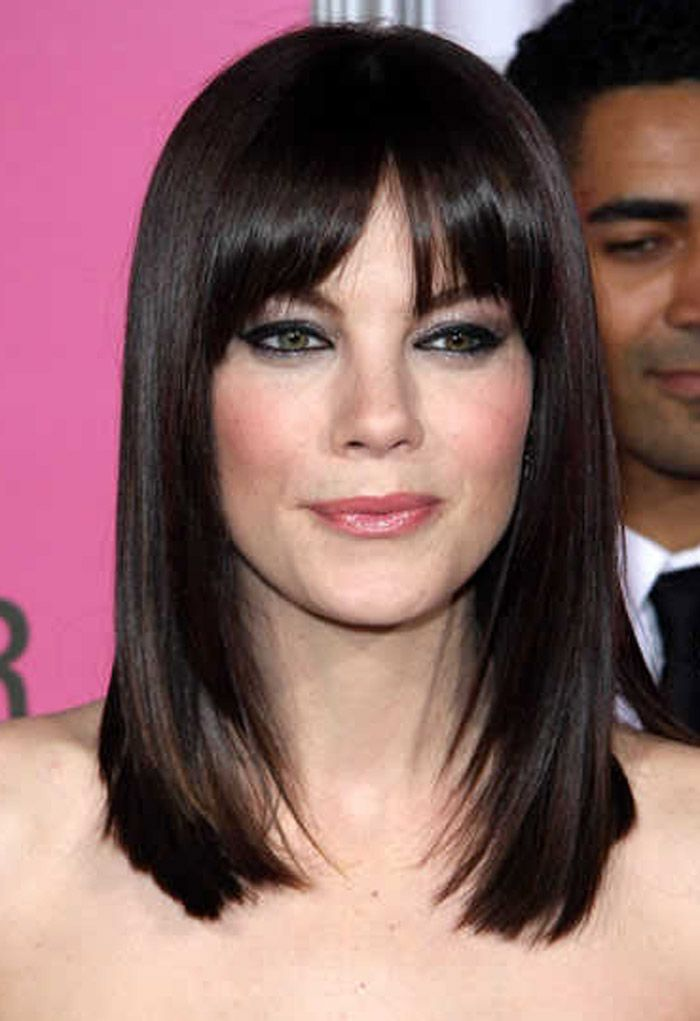 Medium Length Hairstyle with Bangs 2014 Inspired by Korean Girl Pictures