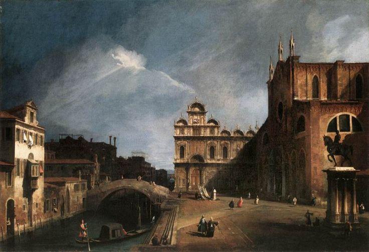 Церковь Св. Джованни и Паоло, а также Школа Сан-Марко,1726. Каналетто (Джованни Антонио Каналь)