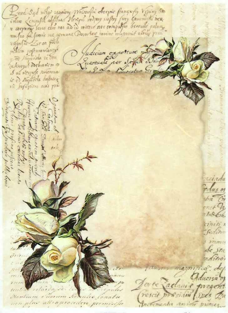 rice paper for decoupage scrapbooking sheet vintage letter paper decoupage vintage og kort. Black Bedroom Furniture Sets. Home Design Ideas
