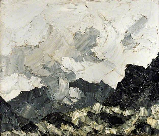 'Cloud on the Mountains' (1950-70) by Welsh artist Kyffin Williams (1918-2006). Oil on canvas, 51 x 61 cm. via BBC