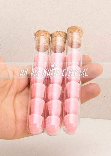 200 tubos de ensaio vidro c/ rolha 10cm tubete lembrancinha