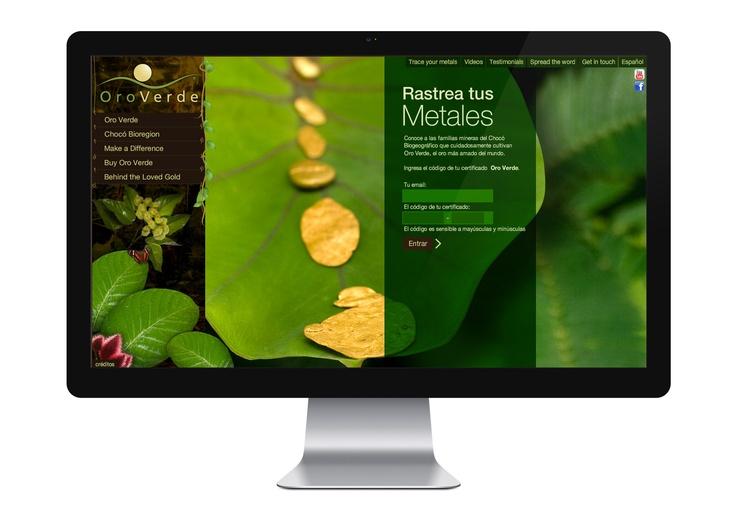 2009 Oro Verde | Branding, aplicaciones gráficas y diseño web. www.trendy.com.co
