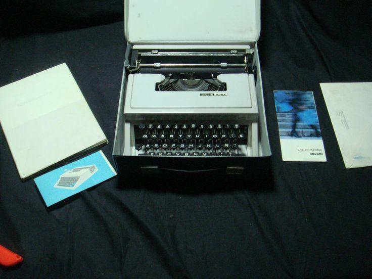 Maquina De Escribir Olivetti Dora Con Funda - Buen Estado