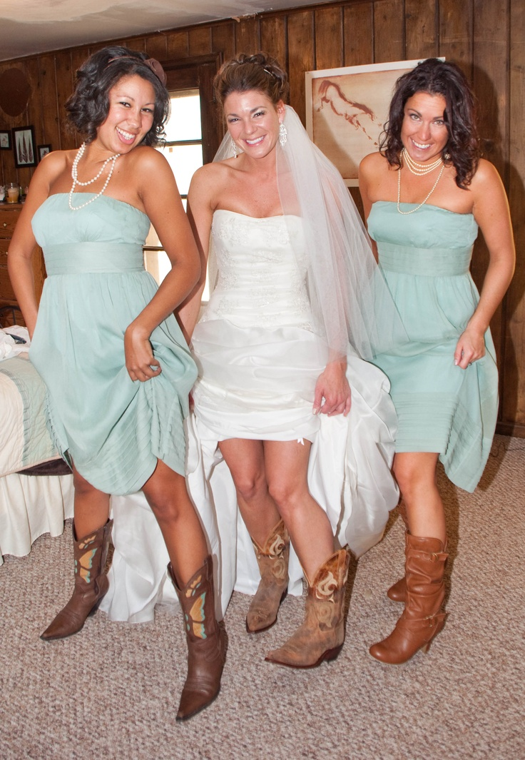 25 best ideas about western bridesmaid dresses on for Western wedding dresses with boots
