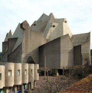 """Wallfahrtskirche """"Maria Königin des Friedens"""" in Neviges, N-Rhein-Westfalen; der größte moderne Sakralbau Europas"""