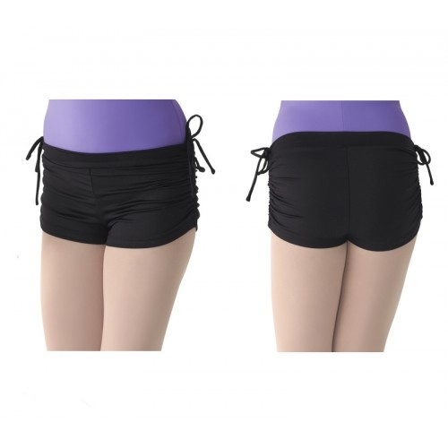 Mirella M618CM, rouched side girl's shorts  Mirella's  rouched side girl's shorts  Fabric: Nylon / Spandex  Colours:black,lavender,pale pink  Price: 21.60€