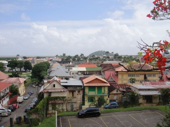 View over Cayenne, the capital of French Guiana