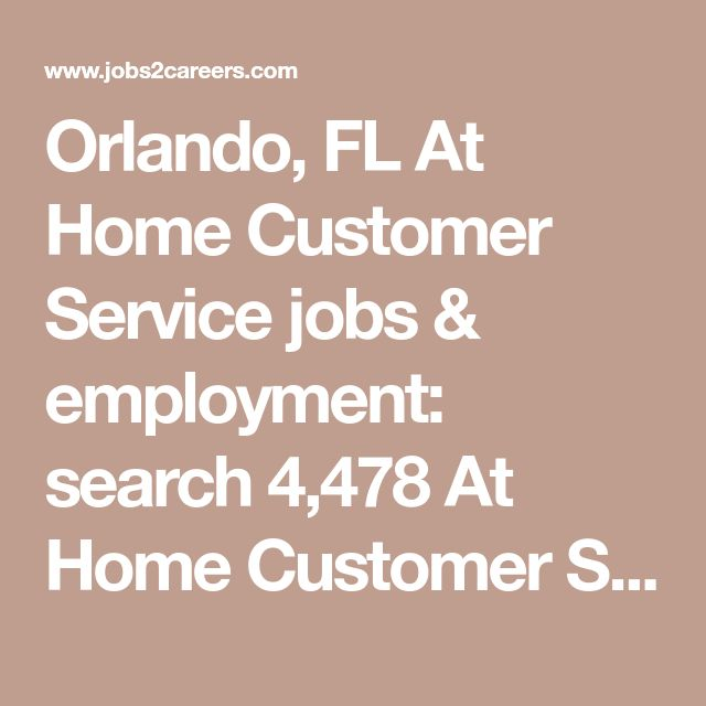 work from home jobs orlando