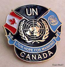 Canada Canadian Veterans U.N United Nations Peacekeeping Beret Badge