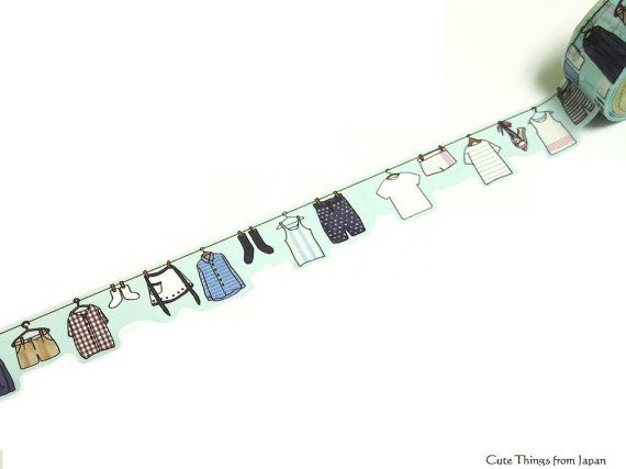 Lovely laundry Yano Design Japanese Washi Masking available at Cute Things from Japan.