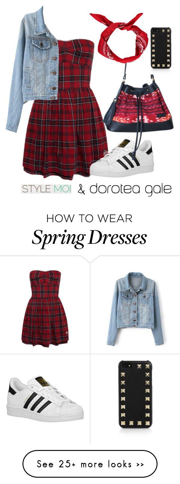 """Style moi"" by doroteagale on Polyvore featuring moda, adidas Originals e Valentino"