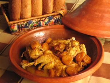 Introduction to Moroccan Cuisine - A Fusion of Flavors and Ingredients: Moroccan Chicken and Apricot Tagine